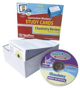 NewPath Interactive Hight School Chemistry Review: CD and Study Cards