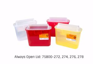VWR® Sharps Container Systems, Always Openlid Style
