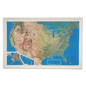 United States Raised Relief Map