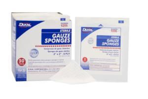 "Sterile, Gauze Sponge,  2"" x 2"", 8-ply"