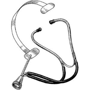 DeLee-Hillis Obstetrical Stethoscope with Metal Headband and Rigid Arm, Sklar