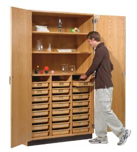 Diversified Tote Tray & Shelving Storage Cabinet