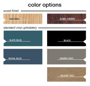 Color Options for Treatment Table