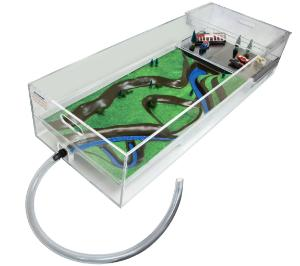 Stormwater Floodplain Simulation System, Diorama-with-Parking Lot-Hose