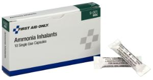 Ammonia Inhalant Capsule (Box of 10), First Aid Only