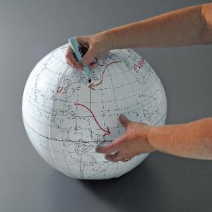 Inflatable/Writable Globe