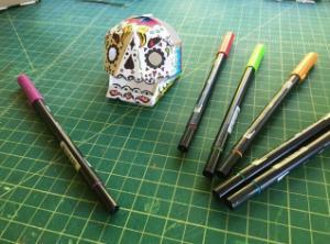 Uv Papertronics Skulls