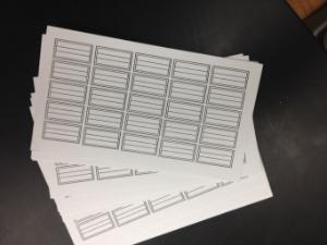 Ward's® Blank Insect Label Cards