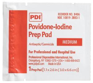 PVP Iodine Prep Pads, PDI®