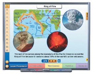 Interactive Whiteboard Science Lessons: Volcanoes