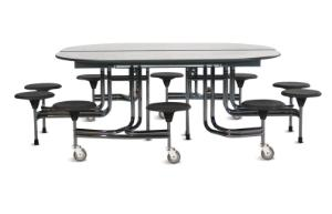 Oval Table with 10 Seats
