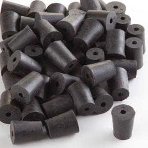 1-Hole Natural Rubber Stoppers