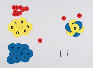 Magna Atom Magnetic Chalkboard Model Set