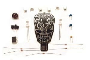 Intermediate Soldering Kit, Solar Powered LED Skull