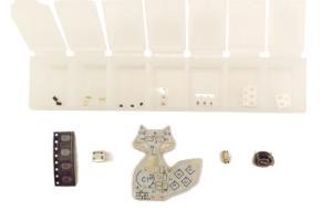 Advanced Soldering Kit, Solar Powered LED Fox