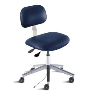 Biofit Bridgeport series static control chair, Low seat height range with aluminum base and casters