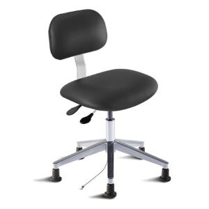 Biofit Bridgeport series static control chair, Low seat height range with aluminum base and glides