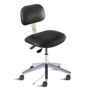 Biofit Bridgeport series static control chair, medium seat height range, aluminum base and casters