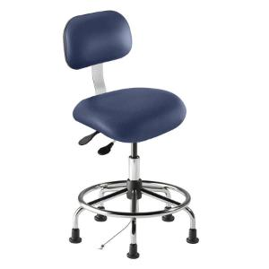 Biofit eton series static control chair, medium seat height range with steel base, affixed footring and glides