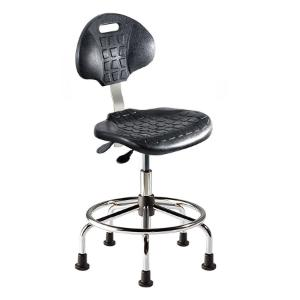 Biofit UniqueU series ergonomic chair, Low seat height range with steel base, affixed footring and glides