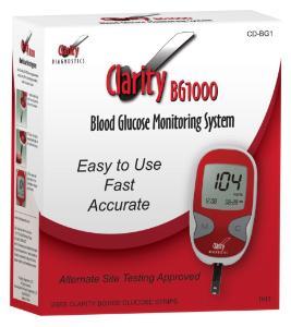 Clarity BG1000 blood glucose meter