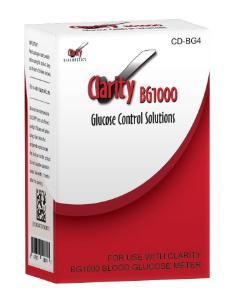 Clarity BG1000 glucose meter control solution