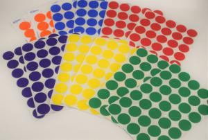 Sticker removable 6colors 3/4in pk328