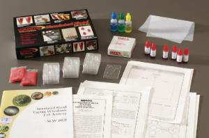 "Simulated Blood Typing ""Whodunit"" Kit"