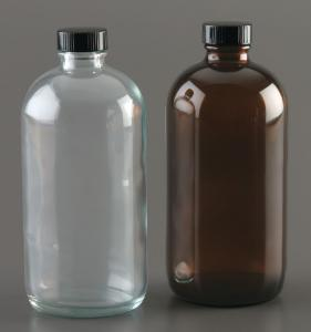Plastic Coated Clear Glass Safety Bottles