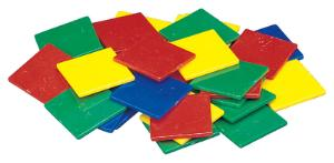 "1"" Square Color Tiles"