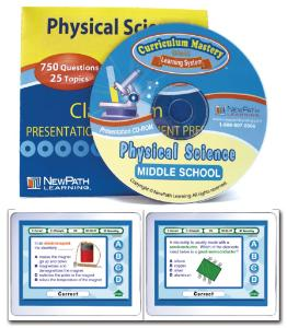 NewPath MS PHYSICAL SCIENCE Interactive Whiteboard Digital Download-Site License