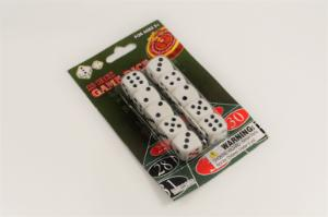 Dice white with black dots pk10