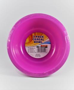 Bowl plastic 7 in dia. 28 oz pk3