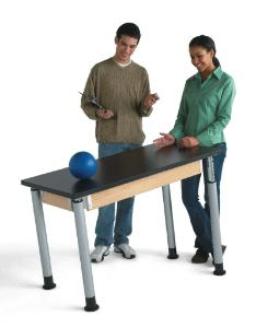 Adjustable Height Table, Plastic Laminate Surface