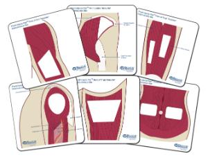 Wallcur® PRACTI-Injecta Pad Templates