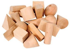 Hardwood Geometric Solids
