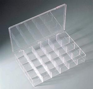 Compartmented Plastic Boxes, Clear, Flambeau