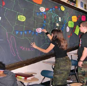 Regional Weather Patterns Blackboard Manipulative