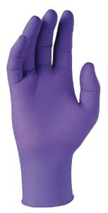 Poly-coated powder-free gloves