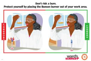 Ward's® Laboratory Safety Poster Burns