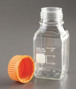 PYREX® Square Bottles with Screw Caps