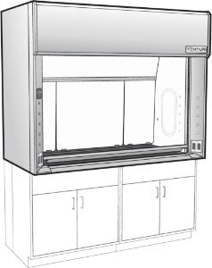 Venturi V05-General Purpose Bench Fume Hood with Vertical Rising Sash, Phenolic Resin Liner, Kewaunee Scientific