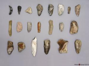 Model Neanderthal Tools, Set of 21
