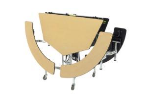 "Mobile Bench Tables, 60"" Ø, AmTab"