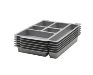 Six Unequal Compartment Tray Insert