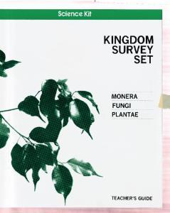 Science Kit Kingdom Survey Set Manual