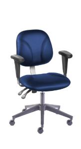 VWR® Contour™ Deluxe Lab Chairs with Armrests, Vacuum-Formed Vinyl