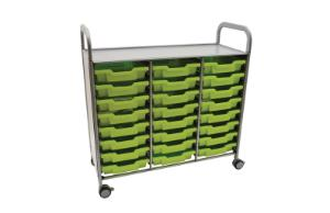 Gratnells Callero Plus Treble Tray Cart 24 Shallow Trays - 470316-306