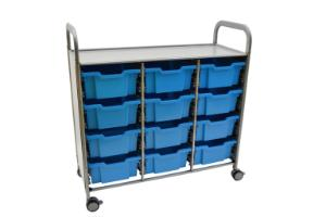 Gratnells Callero Plus Treble Tray Cart 12 Deep Trays- 470316-356