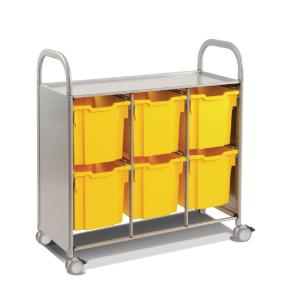 Gratnells Callero Plus Treble Tray Cart 6 Jumbo Trays - 470316-380